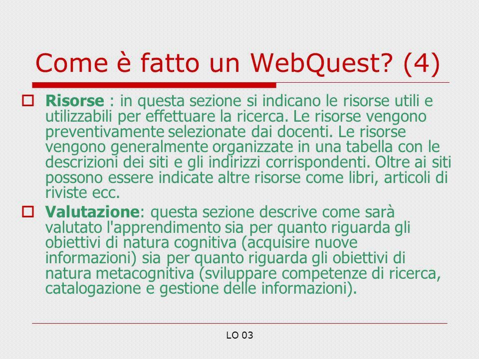Come è fatto un WebQuest (4)