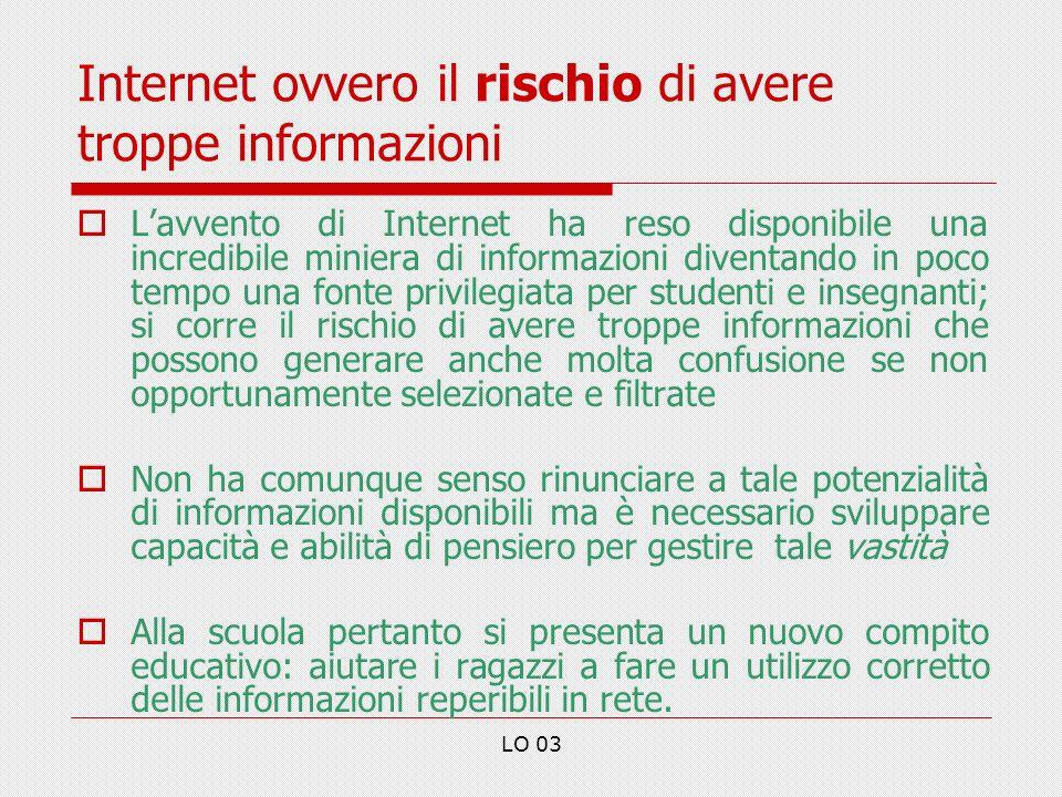 Internet ovvero il rischio di avere troppe informazioni