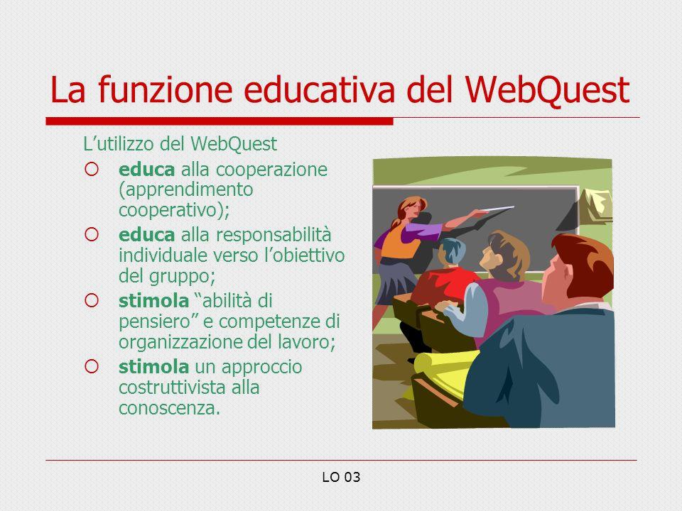 La funzione educativa del WebQuest