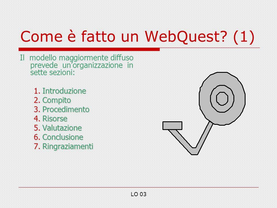 Come è fatto un WebQuest (1)
