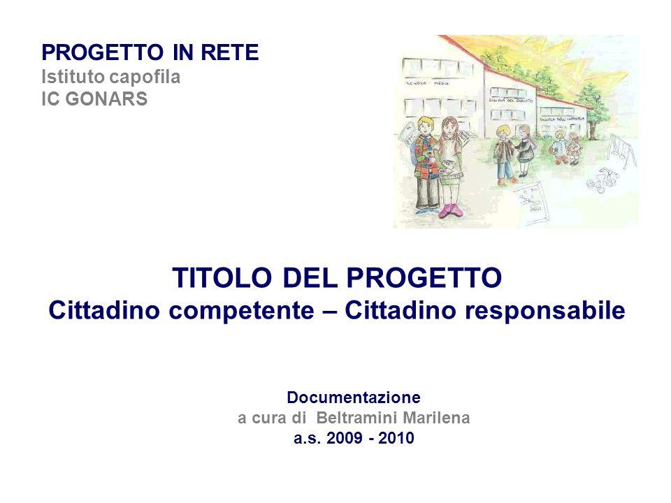 TITOLO DEL PROGETTO Cittadino competente – Cittadino responsabile
