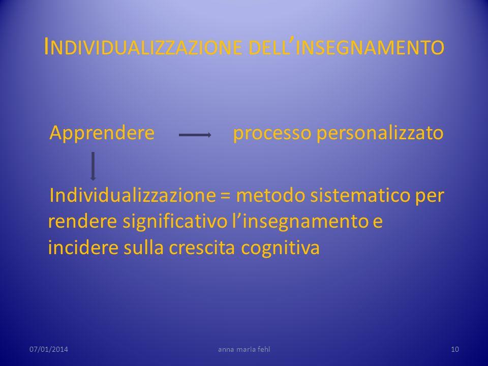 Individualizzazione dell'insegnamento