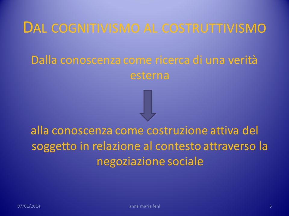 Dal cognitivismo al costruttivismo