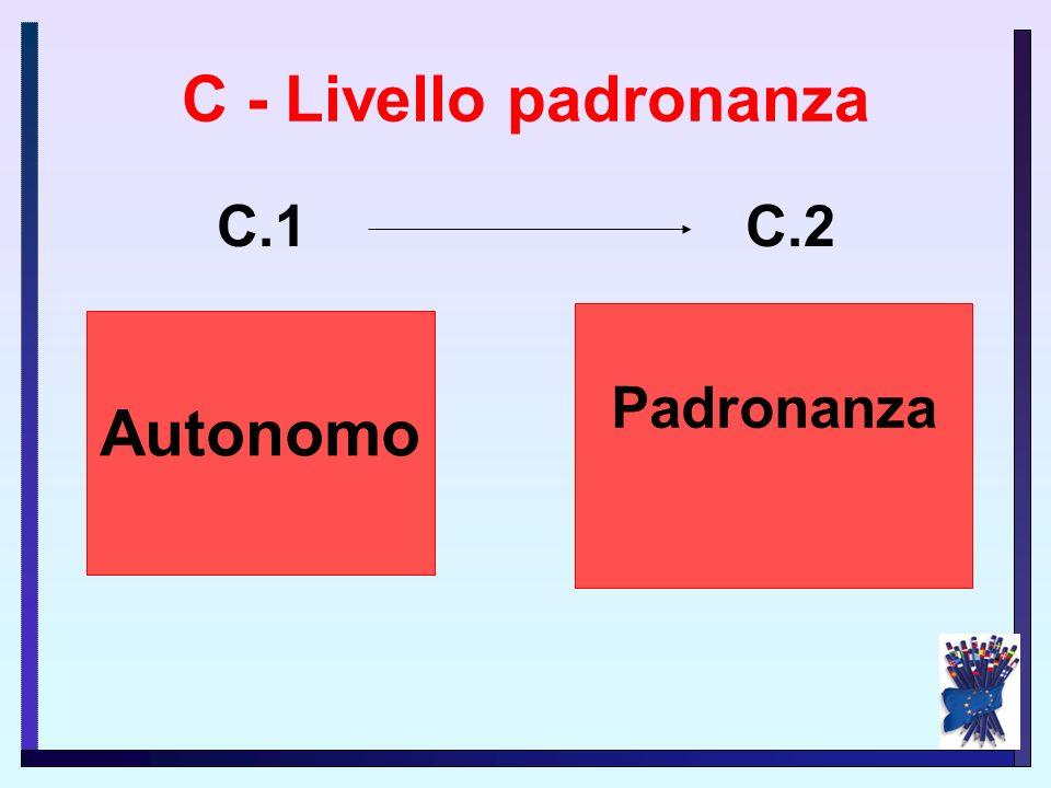 C - Livello padronanza Autonomo