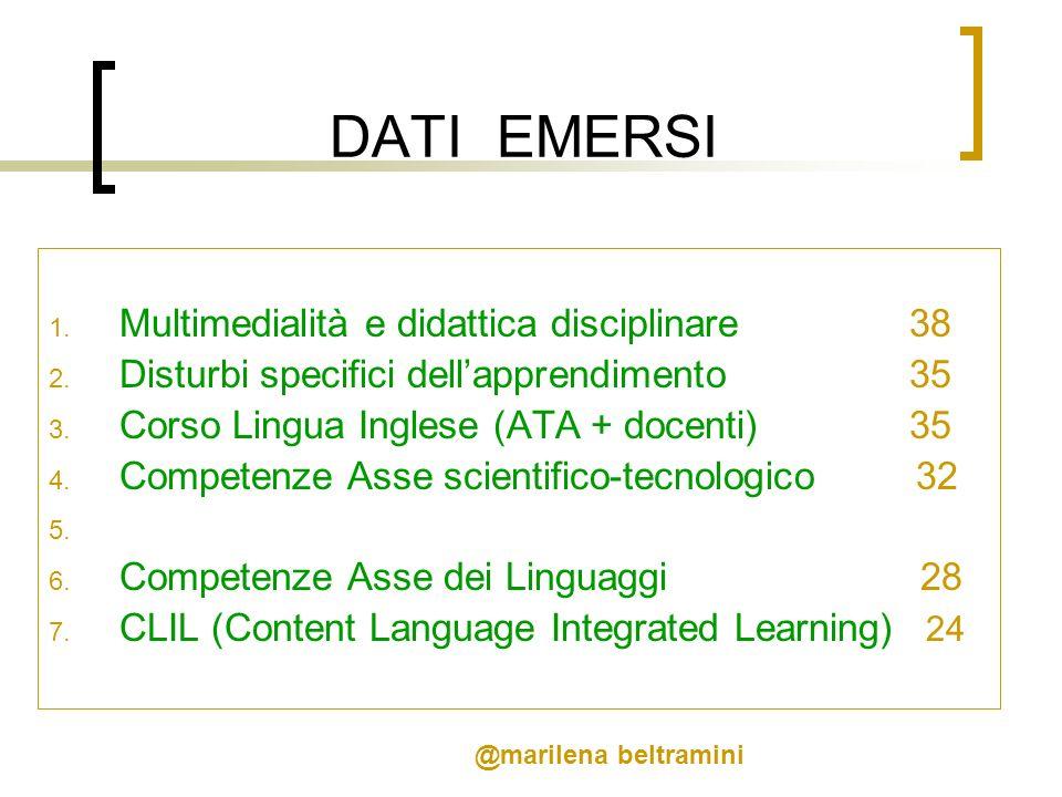 DATI EMERSI Multimedialità e didattica disciplinare 38