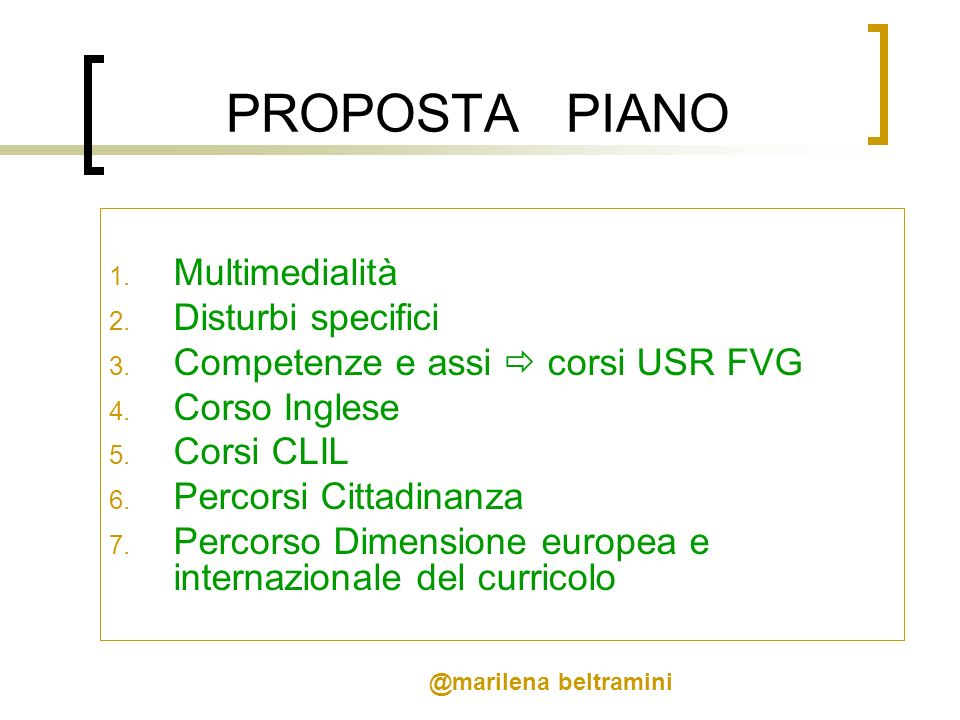 PROPOSTA PIANO Multimedialità Disturbi specifici