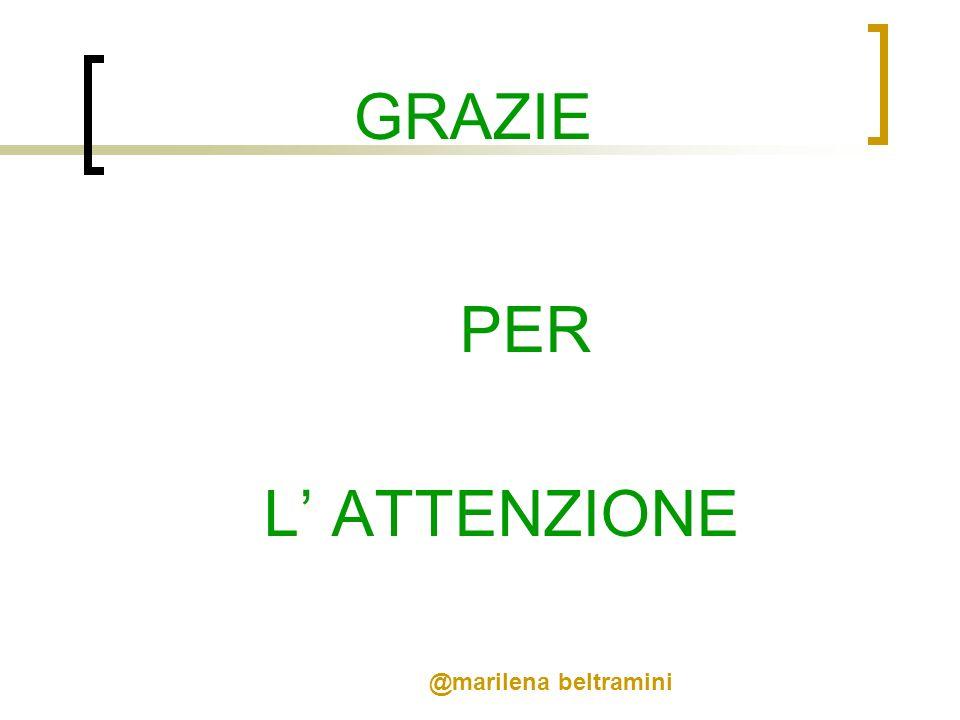 GRAZIE PER L' ATTENZIONE @marilena beltramini