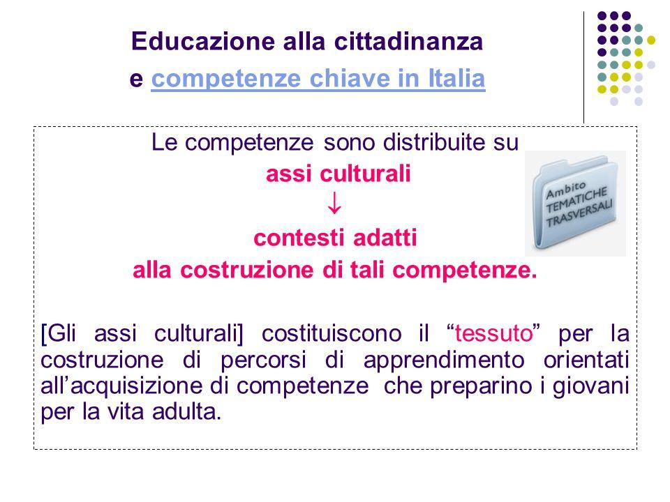 Educazione alla cittadinanza e competenze chiave in Italia