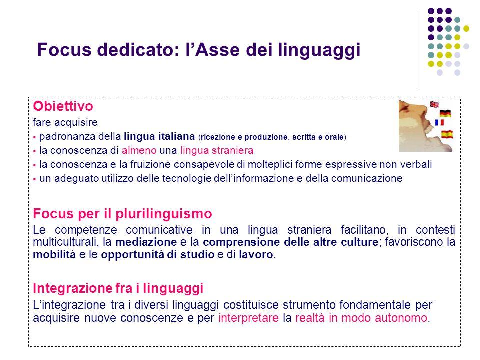 Focus dedicato: l'Asse dei linguaggi