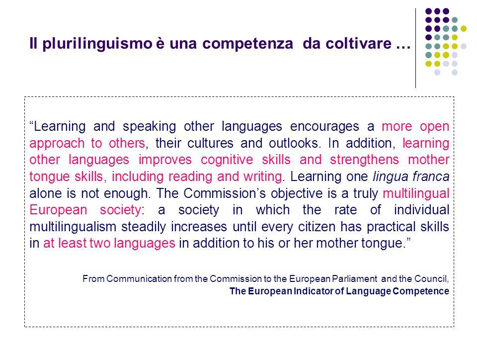 Il plurilinguismo è una competenza da coltivare …