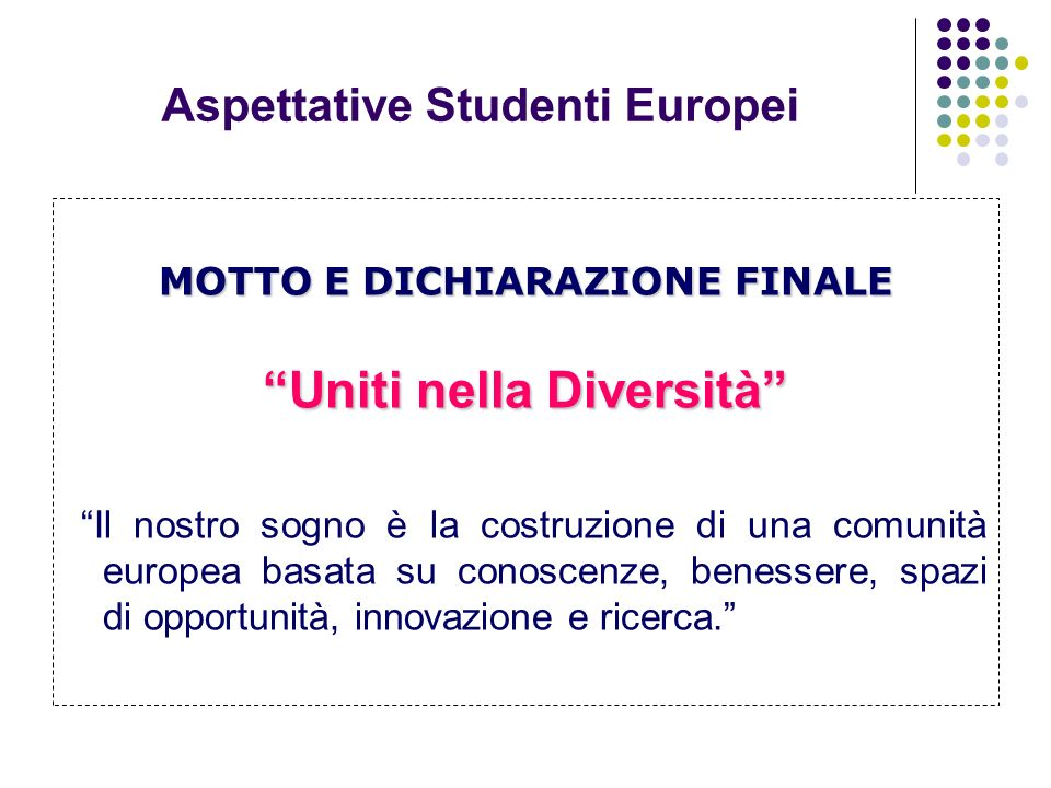 Aspettative Studenti Europei
