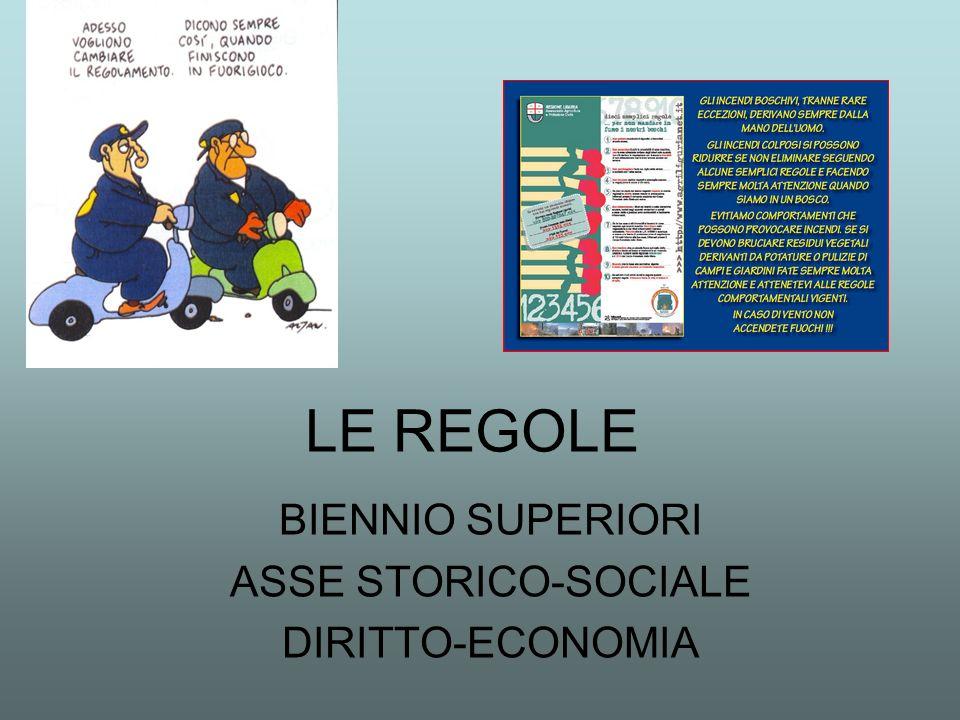 BIENNIO SUPERIORI ASSE STORICO-SOCIALE DIRITTO-ECONOMIA