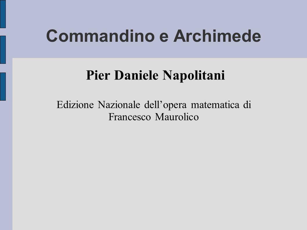 Commandino e Archimede