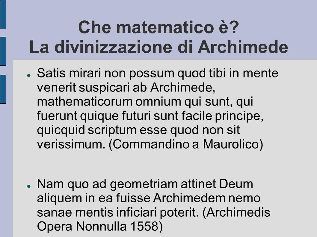 Che matematico è La divinizzazione di Archimede