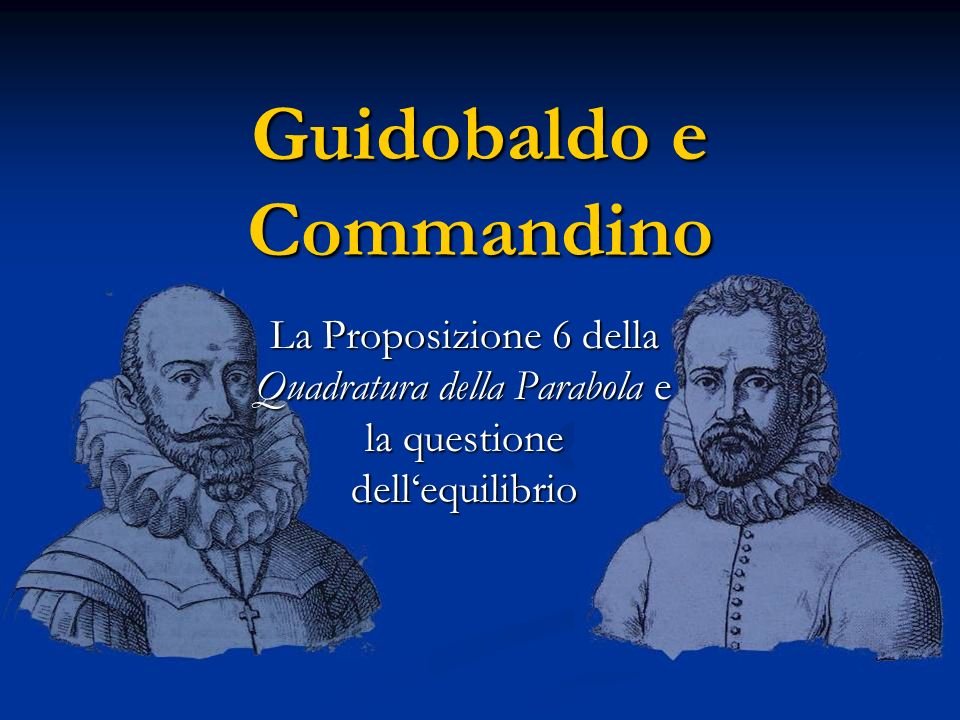 Guidobaldo e Commandino