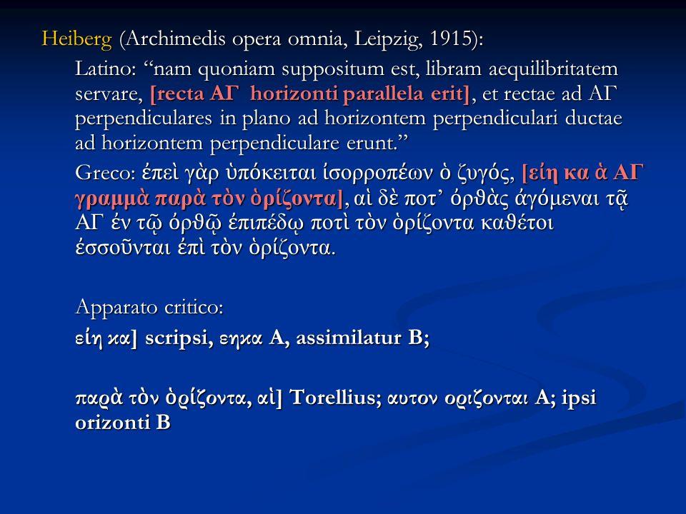 Heiberg (Archimedis opera omnia, Leipzig, 1915):