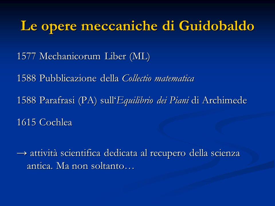 Le opere meccaniche di Guidobaldo