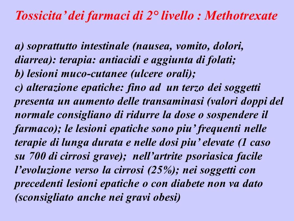 Tossicita' dei farmaci di 2° livello : Methotrexate