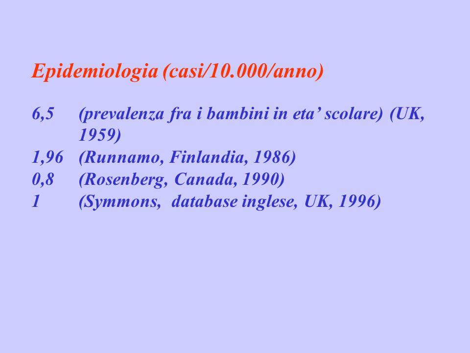Epidemiologia (casi/10.000/anno)