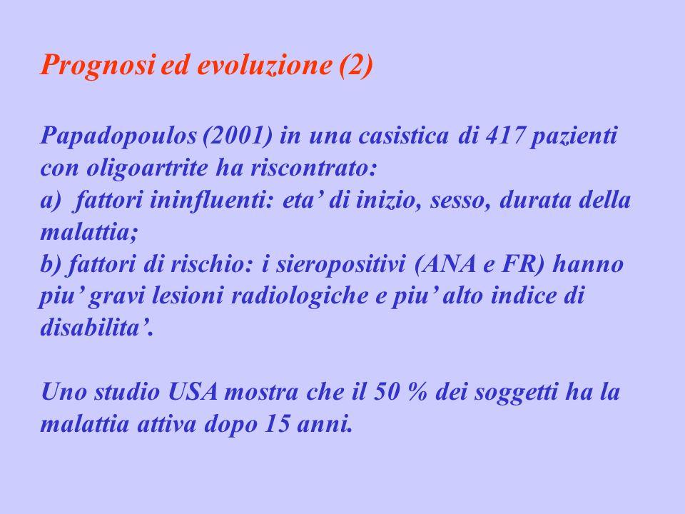 Prognosi ed evoluzione (2)