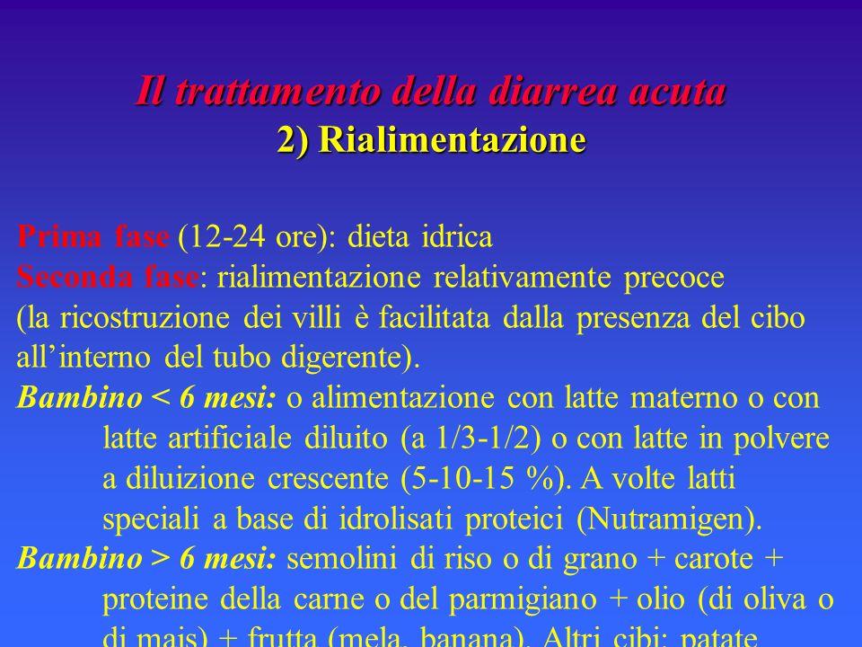 Il trattamento della diarrea acuta 2) Rialimentazione