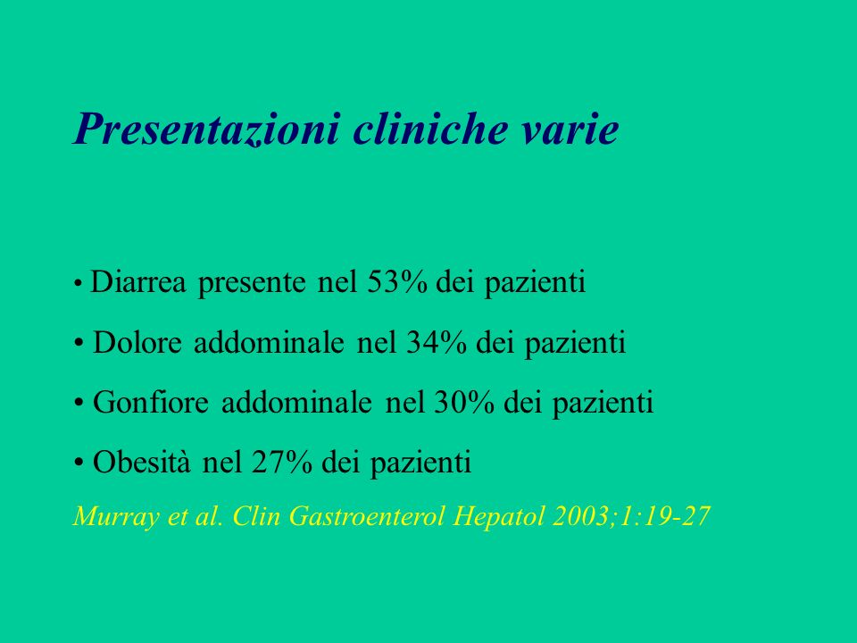 Presentazioni cliniche varie