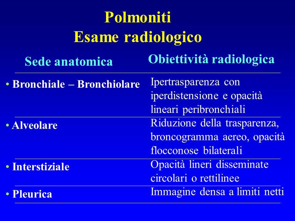 Polmoniti Esame radiologico