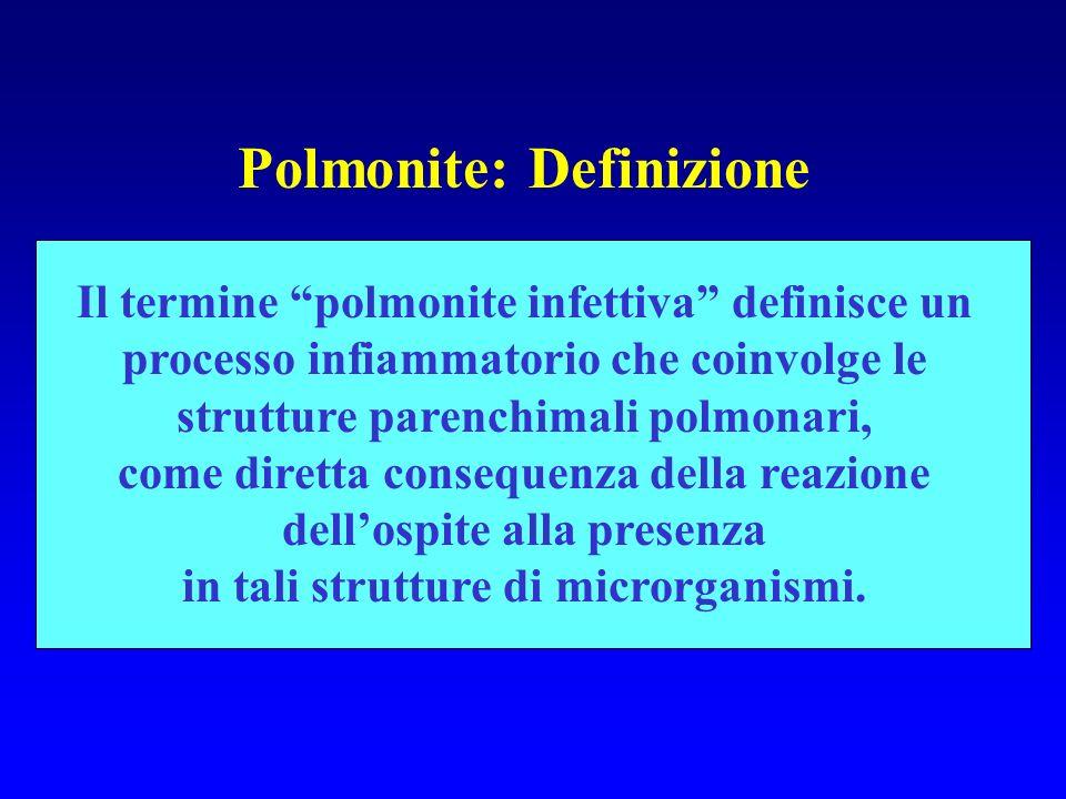 Polmonite: Definizione