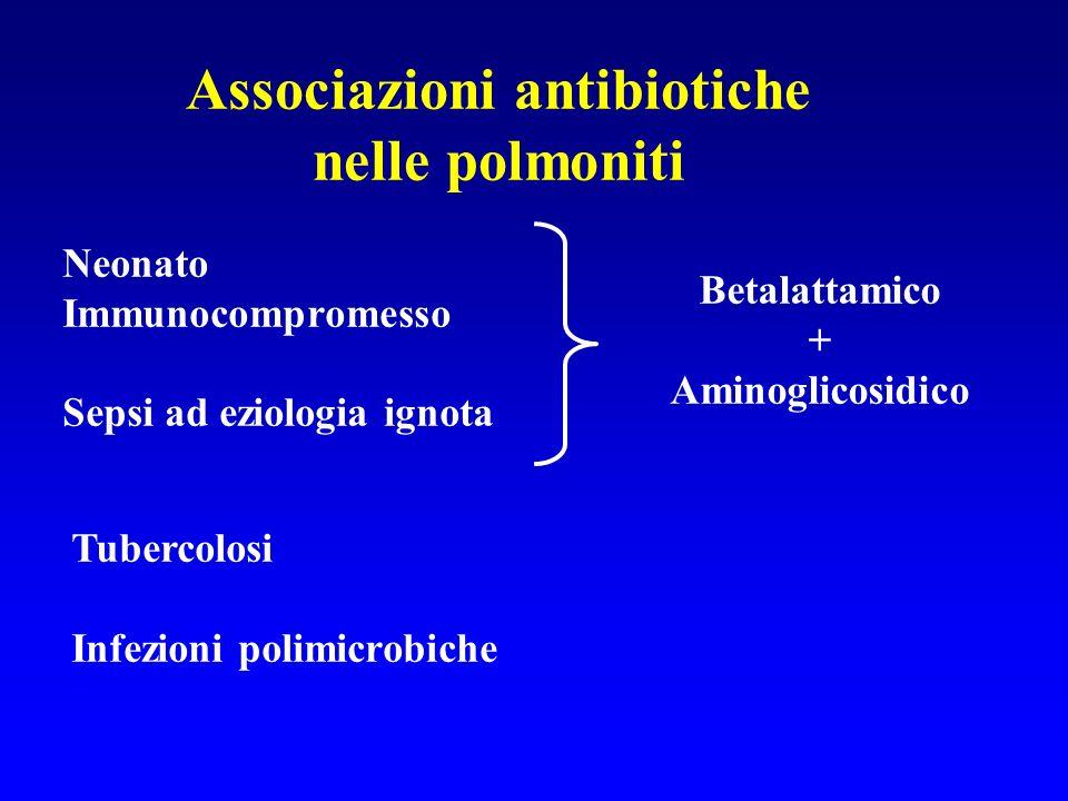 Associazioni antibiotiche nelle polmoniti