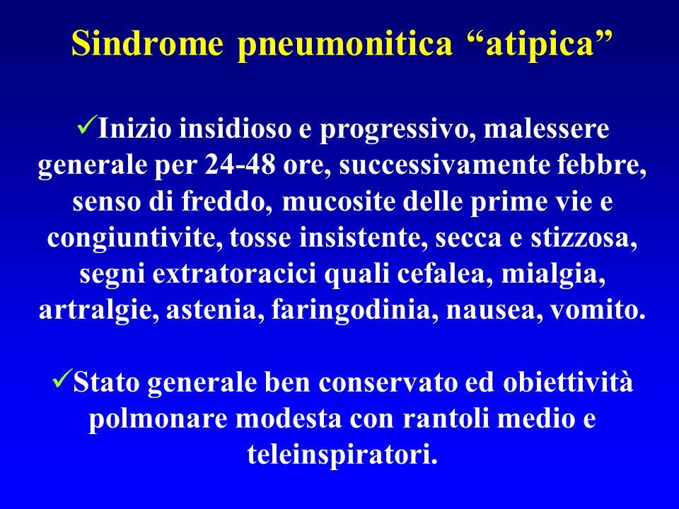 Sindrome pneumonitica atipica