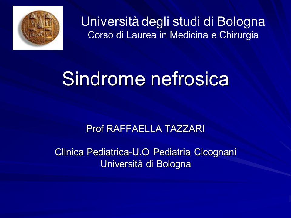Università degli studi di Bologna Corso di Laurea in Medicina e Chirurgia