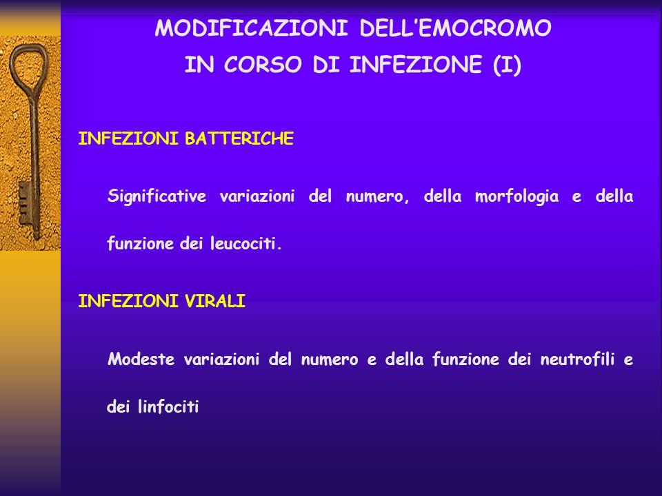 MODIFICAZIONI DELL'EMOCROMO IN CORSO DI INFEZIONE (I)