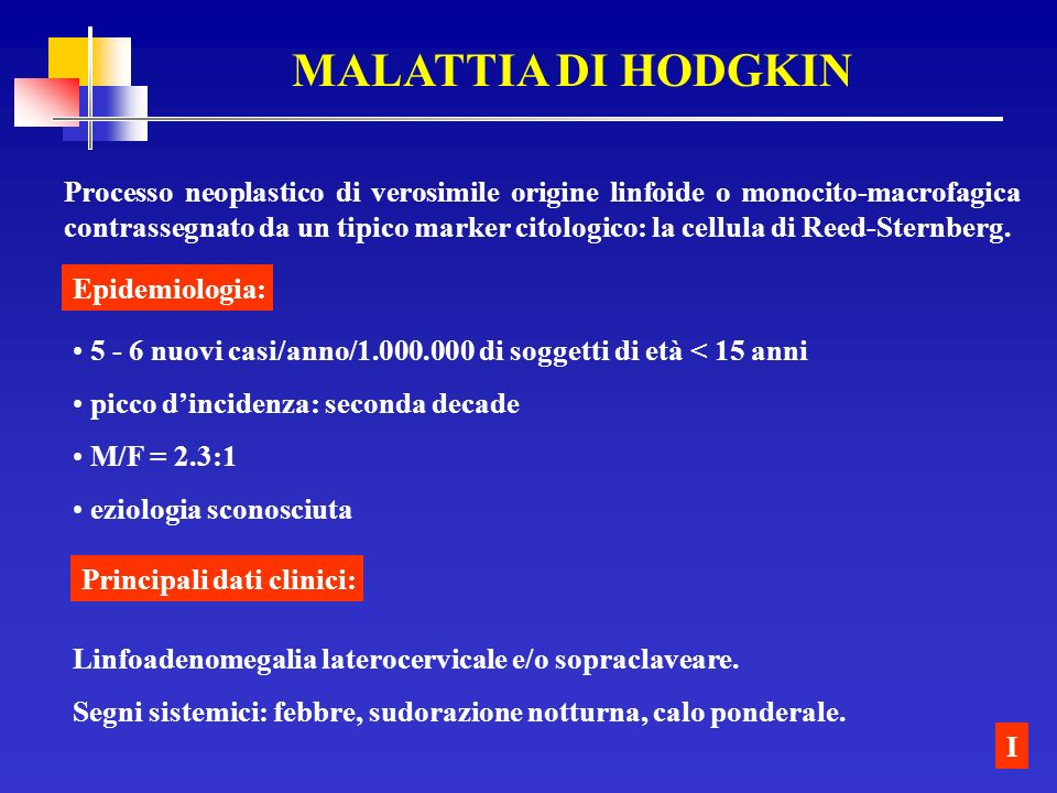 MALATTIA DI HODGKIN