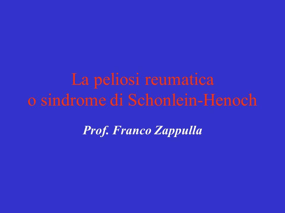 La peliosi reumatica o sindrome di Schonlein-Henoch