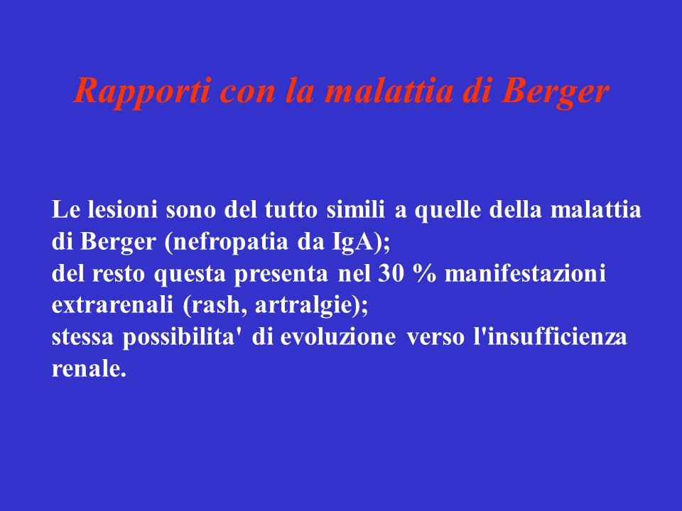 Rapporti con la malattia di Berger