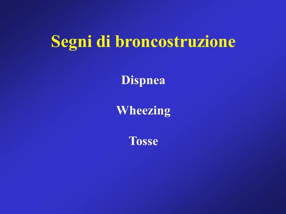 Segni di broncostruzione