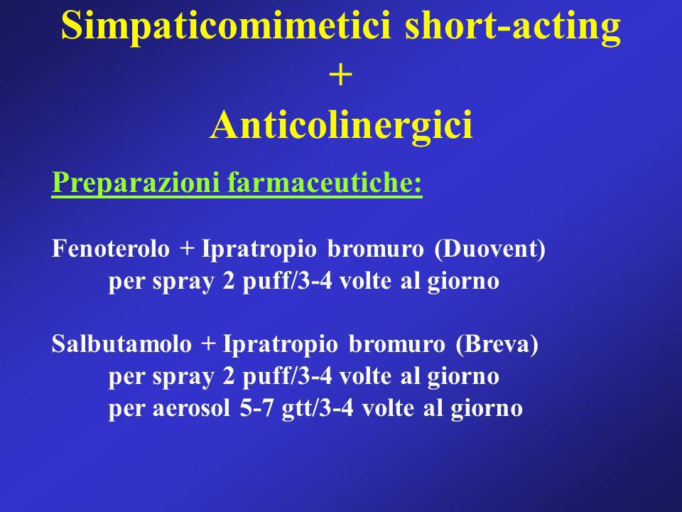 Simpaticomimetici short-acting