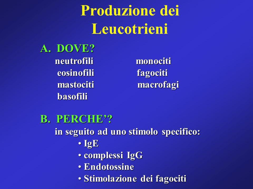 Produzione dei Leucotrieni