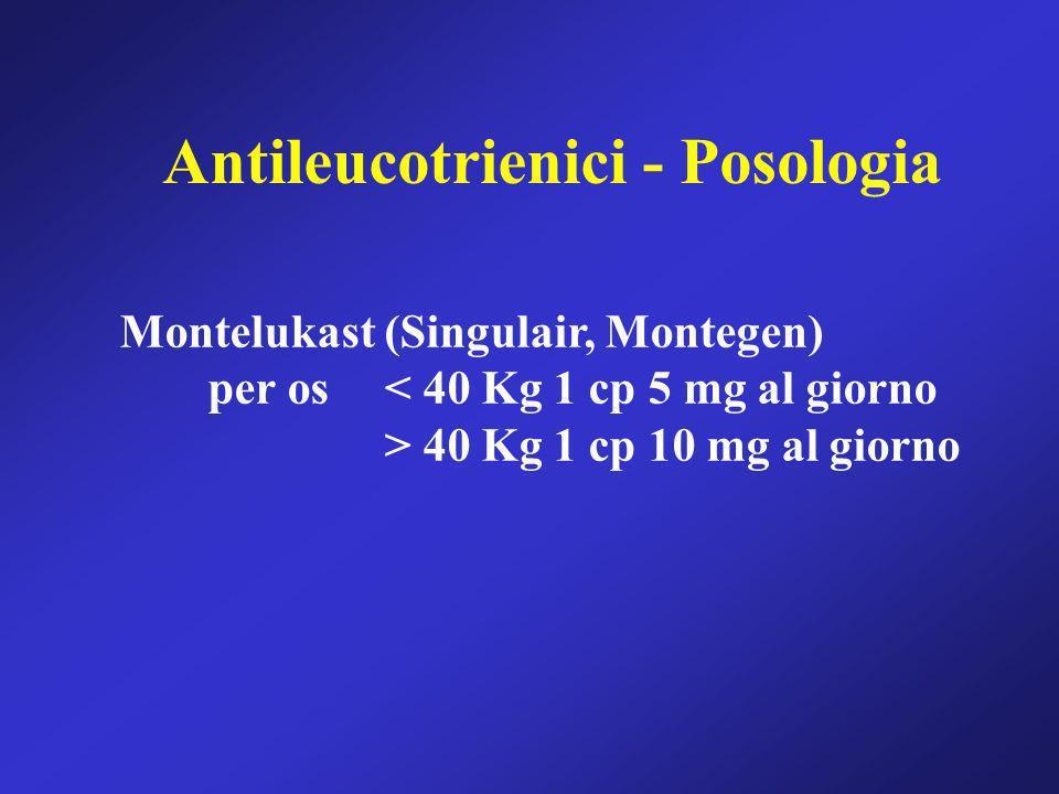 Antileucotrienici - Posologia