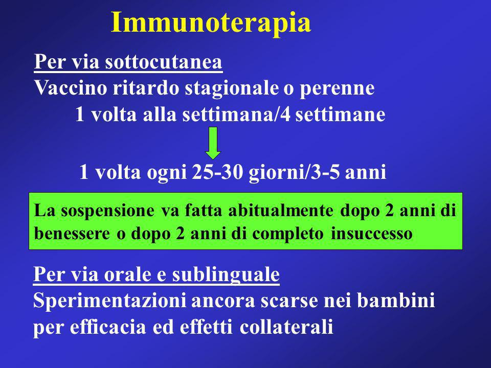 Immunoterapia Per via sottocutanea