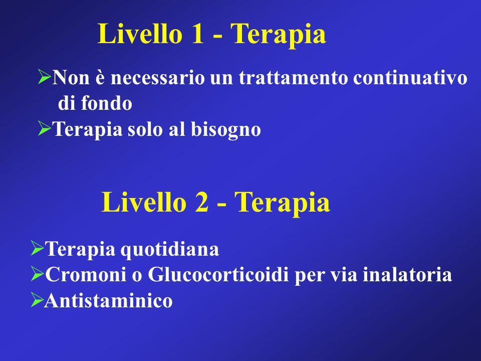 Livello 1 - Terapia Livello 2 - Terapia