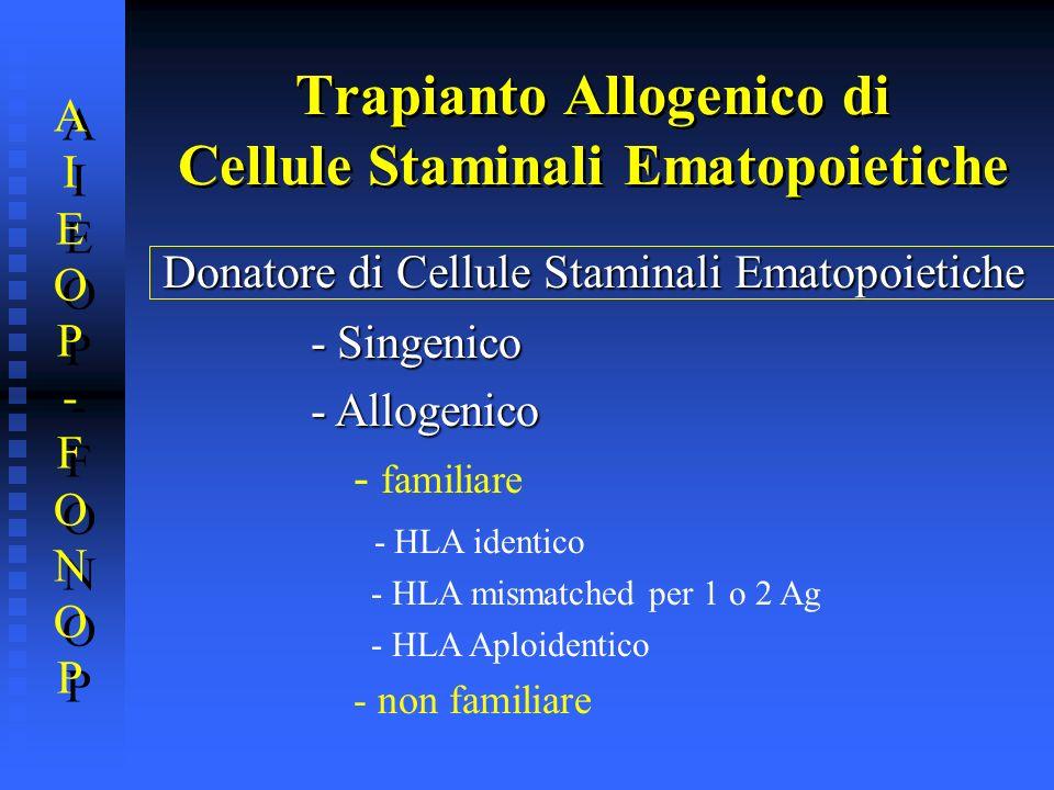 Trapianto Allogenico di Cellule Staminali Ematopoietiche
