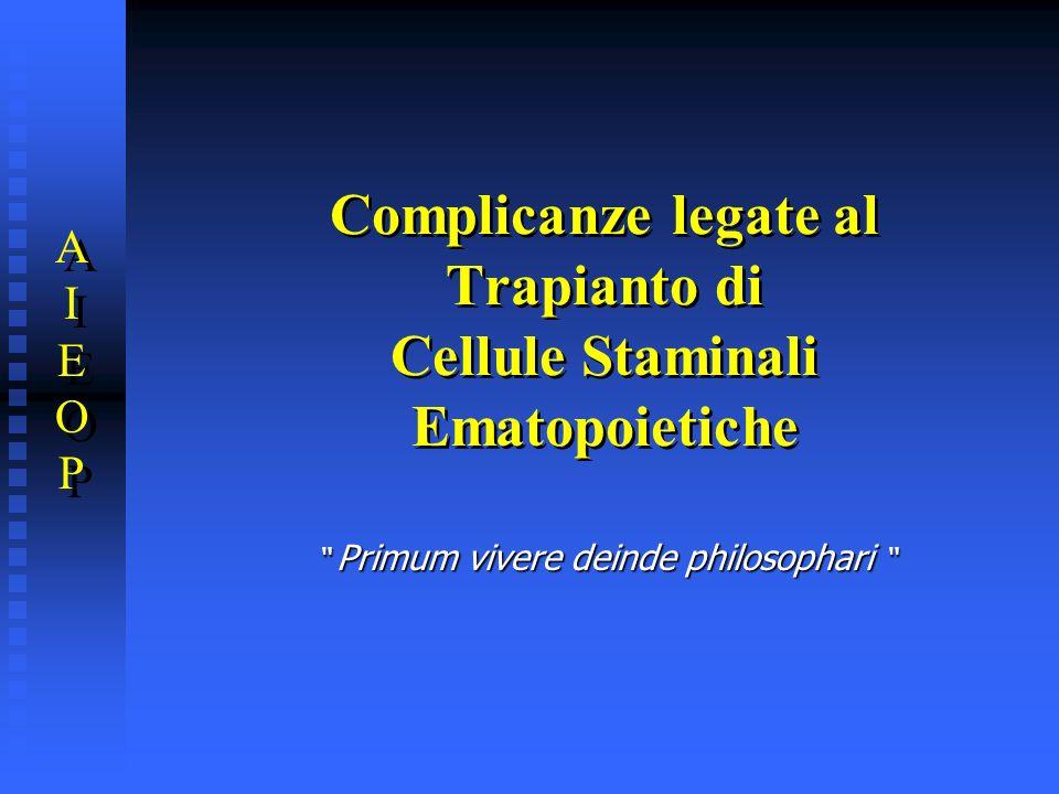 Complicanze legate al Trapianto di Cellule Staminali Ematopoietiche