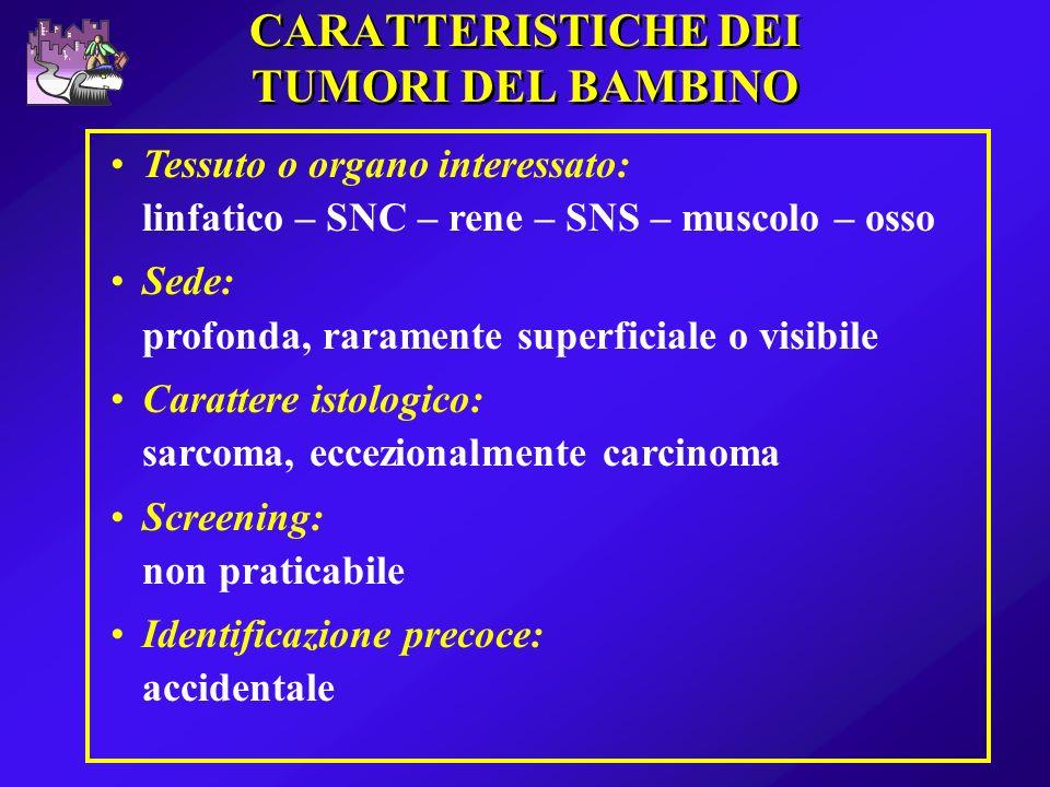 CARATTERISTICHE DEI TUMORI DEL BAMBINO