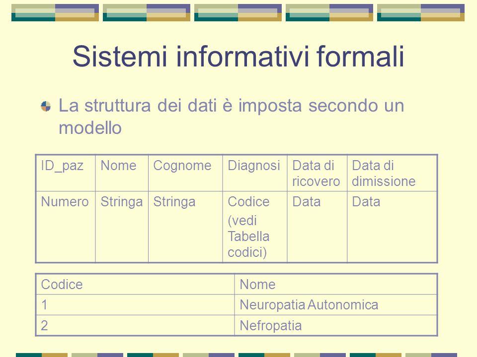 Sistemi informativi formali