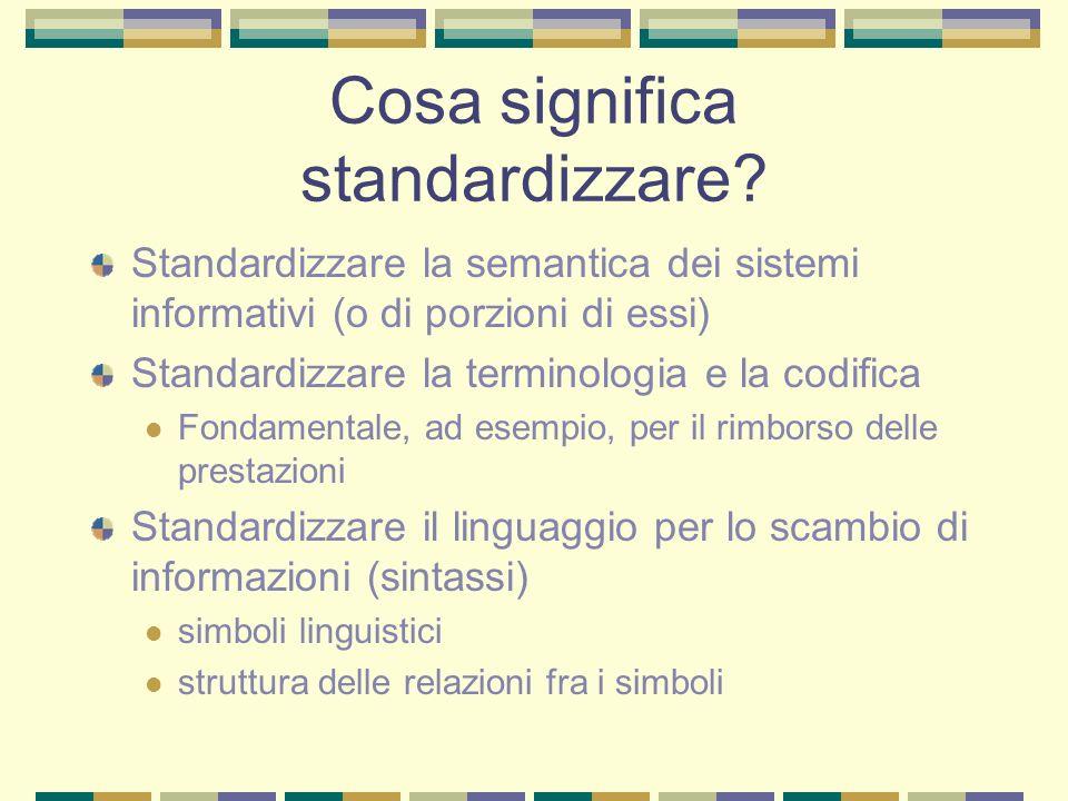 Cosa significa standardizzare