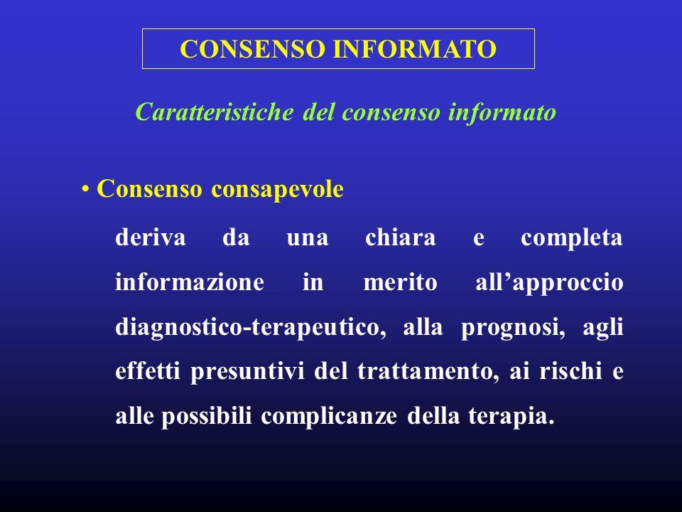Caratteristiche del consenso informato