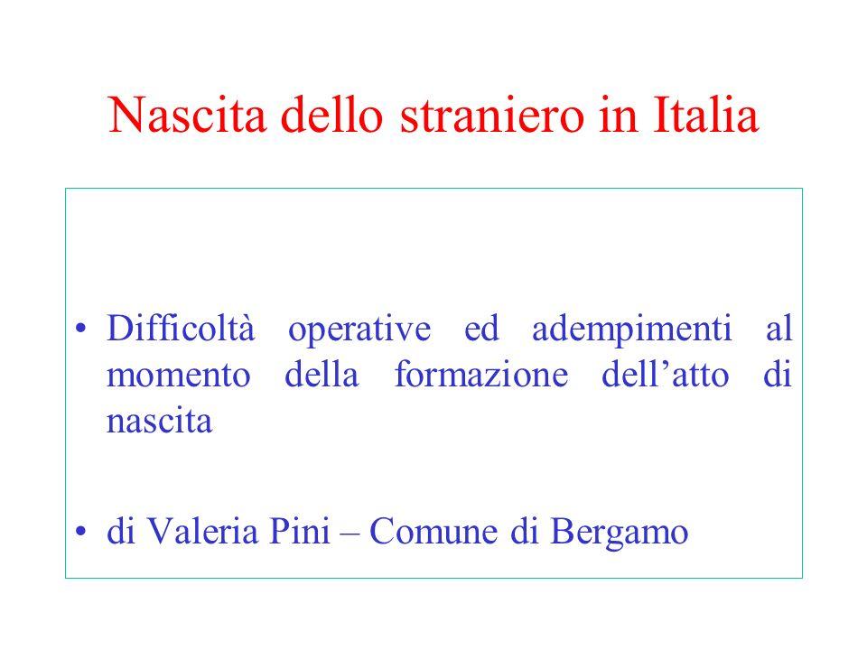 Nascita dello straniero in Italia
