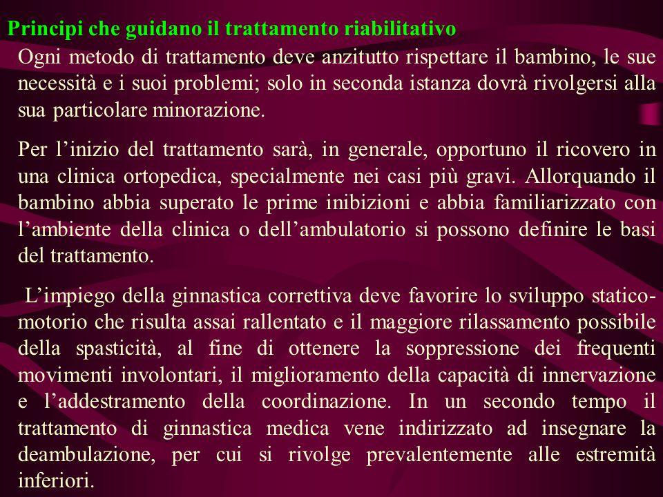 Principi che guidano il trattamento riabilitativo