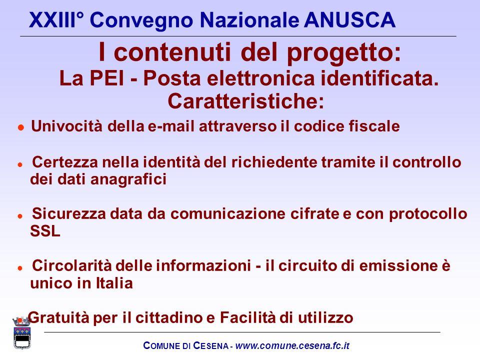 La PEI - Posta elettronica identificata. Caratteristiche: